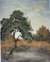 Tableau Impressionnisme Paysage Huile Sur Carton Signée Peter Van Tongerloo