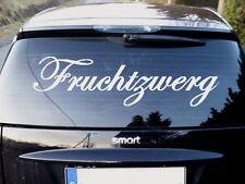 Fruchtzwerg Auto Heckscheiben Aufkleber Sticker Schrift mercedes smart seiten