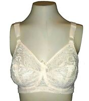 Bra Vintage 1970s Underscore JC Penney Sheer Lace Unlined UW Peach 9396 32D