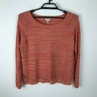 Joie Orange Beige Wide Neck Pullover Long Sleeve Sweater Rayon Cashmere Size XS
