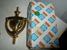 Forged Brass Door Knocker Polished Brass Baldwin Shelley in Box (H)