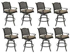 Nassau bar stools Set of 8 swivel outdoor patio furniture cast aluminum.