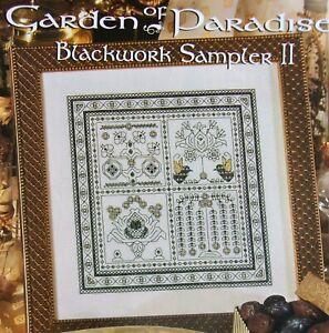 Garden of Paradise II, CROSS STITCH PATTERN, Lovely Blackwork Sampler