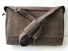 Mens Laptop Bag Crazy Horse Rustic Genuine Leather Bag