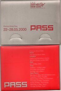 SOUVENIR WALLET  MS2123 STAMP  PASS SHOW  1999 Millennium Timekeeper 2000