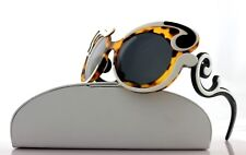 NEW Genuine PRADA MINIMAL BAROQUE Ivory Havana Black Sunglasses SPR 23N VAL-1A1