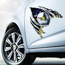 3D Cool Car Sticker Vinyl Removeble Sticker Auto Car Decal American Eagle Sticke