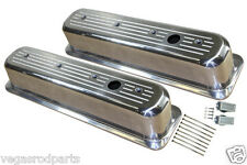 Ball Milled Small block Chevy Tall Center bolt Valve Cover 350  305 Chevrolet