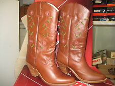 Dingo Women's Western Boots DI725 brown flower Size 6 M NEW
