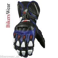 Joe Rocket GPX 2 Blue Leather Motorcycle Racing & Sport  Gloves Size S-M-L
