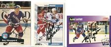 Lot of signed autoNew York Rangers hockey cards NHL