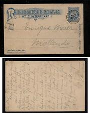 Bolivia nice postal card used 1903 Al0516