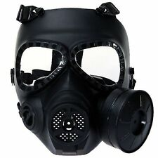 Airsoft Paintball Protective Full Face Toxic Gas Mask Black Cosplay