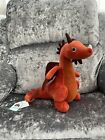 Jellycat Red Orange Dragon Soft Plush Toy Paprika New Dra2p