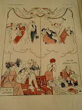 La Clef des Songes Un rêve de célibataire et d'Homme marié Print Art Déco 1910