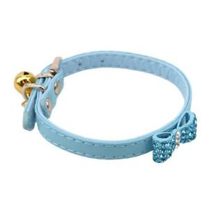 Breathable Dog Collars With Jingle Bells With Bowknot Adjustable Rhinestone LL