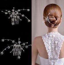 Tiara Diadem Haarschmuck Blumen Blüten Braut Strass Hochzeit Haargesteck Kamm