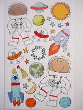 Mambi Mini's ASTRONAUT KIDS Space Scrapbook Stickers