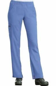 "Koi Lite Scrubs #734 Elastic Waist Cargo Scrub Pant in ""Ceil Blue"" Size 2XL"