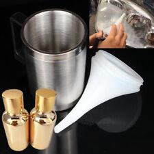 Car Kit Headlight Lamp Lens Repair Tool Restoration Spray Heating Cup w/ Liquid
