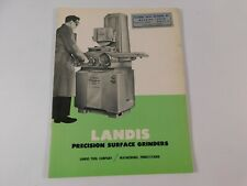 New Listingvintage 1963 Landis Precision Surface Grinders Catalog