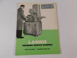 Vintage 1963 Landis Precision Surface Grinders Catalog