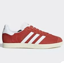 Adidas Originals Gazelle Trainers Size 8 Tactile Red/White