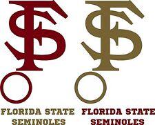 Florida State Seminoles CORNHOLE DECALS -6 CORNHOLE DECALS Vinyl Vehicle Decals