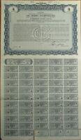 'Oil Shares Incorporated' Giant 1929 SPECIMEN UK Stock/Bond Certificate - Blue
