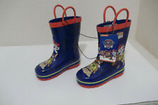 NEW BOYS NICKELODEON PAW PATROL BLUE RED WATERPROOF RUBBER RAIN BOOTS