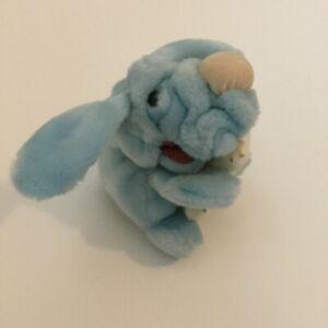 Ganz Bros Wrinkles Puppy Dog Blue Plush Bone 7 Inch Puppet 136905 Vintage 1986