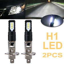2x H1 6000K Super Bright White 6000LM DRL LED Headlight Bulb Kit High Beam NEW