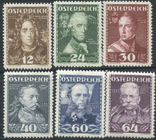 A07305 -- Austria B132-7** never-hinged. The military leaders.