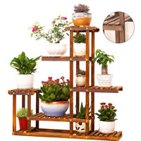 Wooden Plant Stand Flower Pot Display Planter Home Decor Rack Storage Shelf Vase