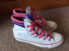 Da Donna Bianco Converse All Star Sneaker UK 3