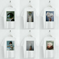 Harajuku T-shirts Women Summer Girls Print Short Sleeve O Neck T-Shirt Loose Top