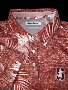 Tommy Bahama Size Large Trim Fit Stanford Collegiate Golf Polo - $115 NWT
