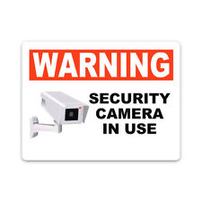 Security Camera In Use Metal Sign Aluminum Warning Property Security Sign