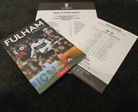 Fulham v Manchester City 30/03/2019 PROGRAMME WITH TEAMSHEET! FREE UK DELIVERY!!