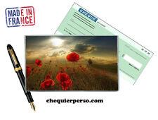 fleurs floral 02-007 protège porte chéquier format portefeuille