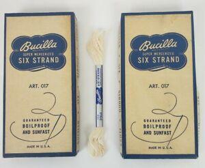 Bucilla Six Strand Floss Thread Skein White 2003 Art. 017 48 Skeins Vintage
