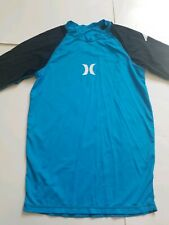 New listing Men's Hurley Logo Tight Fit Surfing Rash Guard T-Shirt, Size S-M