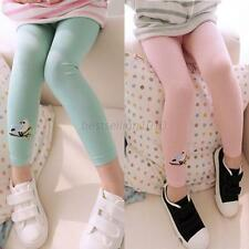 Baby Kids Girls Leggings Pants Birdsd Printed Soft Cotton Trousers for 2-7 Years