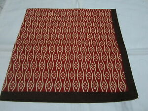 """Japanese Furoshiki Cloth Wrapping Scarf Tapestry 19.75""""Cotton Red Floral Pattern"""