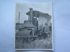 REAL PHOTO of BIG LIZZIE STEAM TRACTOR BRITAIN c1930s EXCELLENT Reg No PY272