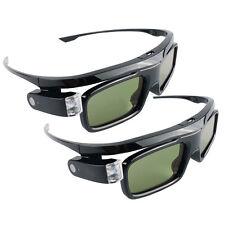 2x 3D Brille Black Jade | Dual Play | Für DLP-Link Beamer BenQ Acer LG Optoma