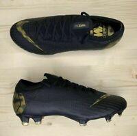 Nike Mercurial Vapor 12 Elite FG Black Gold Soccer Cleats AH7380-077 Men's Sz 9