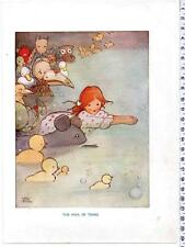 """Mabel Lucie Attwell Antique Book Illustration """" The Pool Of Tears """""""