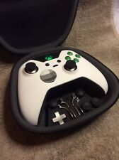 Elite Xbox One 1 Controller - Custom White Shell,GREEN Led,Buttons,ABXY Letters