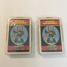 Vintage Sealed Citadel Combat Cards SPACE MARINES Warhammer Games Workshop